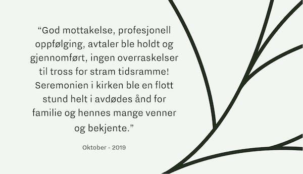 Tilbakemelding Begravelsesbyrå Oslo_Oktober19_1