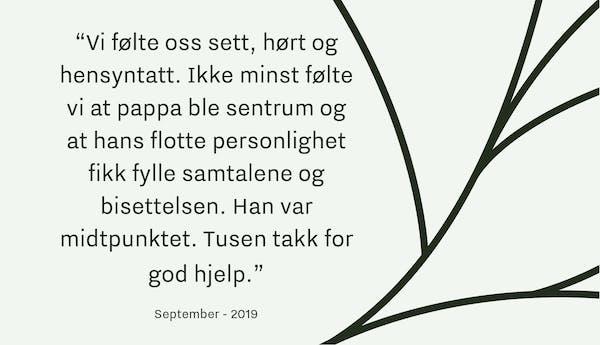 Tilbakemelding Verd Begravelse Oslo_September19_1