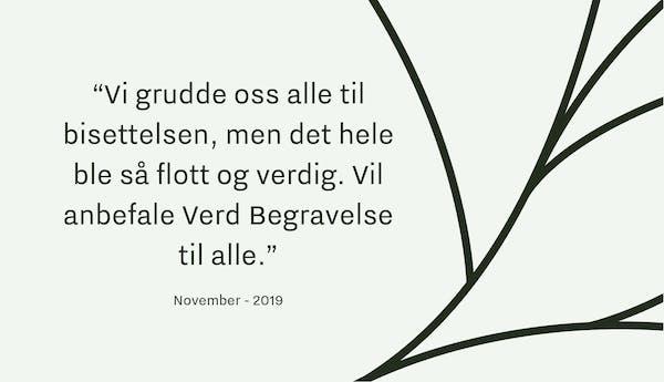 Tilbakemelding Begravelsesbyrå Drammen_1