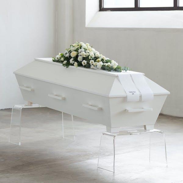 Kiste Furu Hvit Blank fra Verd Begravelsesbyrå